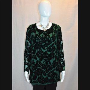 Silk lore boho floral tunic top